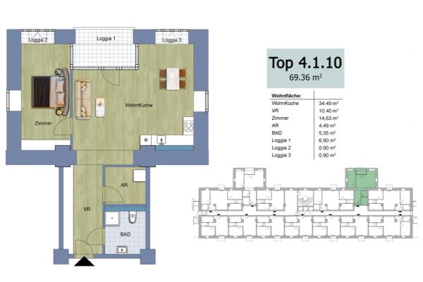 2-izbový s logiami